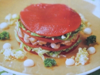 moderne tomaat-garnaal
