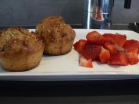 honingmuffins met aardbeiensalsa